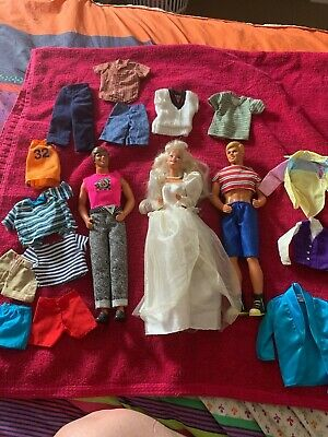 Ken and Barbie dolls 1966/1968 with original clothes and tags