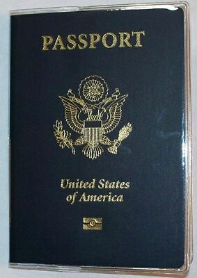 USA Quality Fast Ship Passport Clear Vinyl Cover Protector Holder