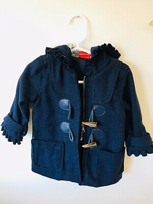 Size 1 Girls Navy duffle Coat