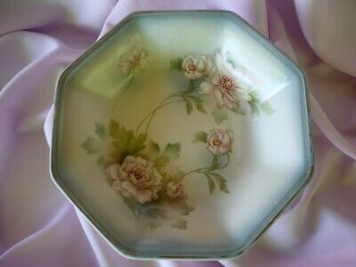 Antique Ford & Sons Sanford Ware Hexagonal Floral Bowl Dish