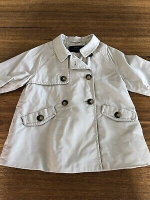 ZARA girls trench coat size 4