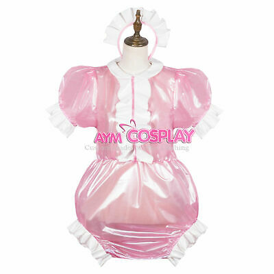 lockable pink PVC Romper TPU sissy boy CD/TV Tailor-made:5