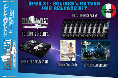 36 SOLDIER/'s RETURN BOOSTERS BOX OPUS XI Italiano Final Fantasy Trading Card