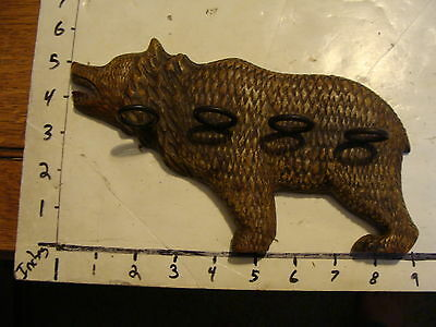 Antique 19th Century Black Forest carved wood Bear Pipe Holder