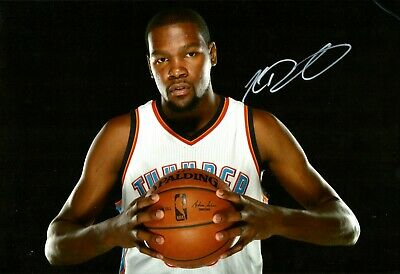 "NBA Kevin Durant KD Hand Signed 8x12"" Photo COA Basketball Autograph Thunder"