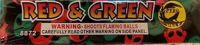 6 Red and Green cut off collectable Fireworks label (pyro wolf, salute)