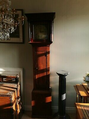 Antique oak Longcase Clock With Brass Face By Rich Stone Of Thame Working