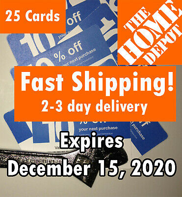 (25) TWENTY FIVE Lowes 10% off for Home Depot only Expires December 15 2020
