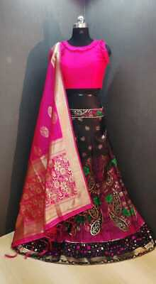 Lehenga banarasi with cancan ready blouse n banarasi dupatta