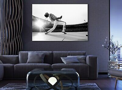 #02 Queen Freddie Mercury Rock Music 36x48 inch More Size Poster Canvas Frame