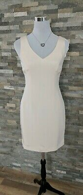 HUGO BUSCATI WOMENS IVORY SILK Lined Sleeveless Pencil  DRESS, Size 4