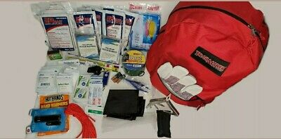 3 Day Backpack Disaster Emergency Survival Kit Bug Out Bag With Food & Water.
