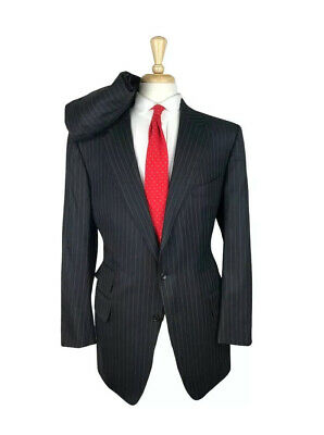 INCREDIBLE $5520 Tom Ford 46R/L-40x29 Charcoal Grey Pinstripe Power Suit Mens