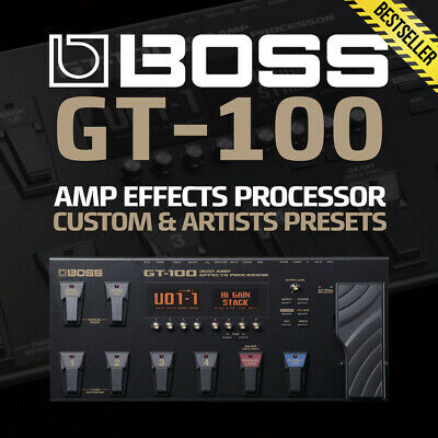 Boss Gt-100 Guitar Effects - 1400 Presets - Artists Patches Effects Amps Tones