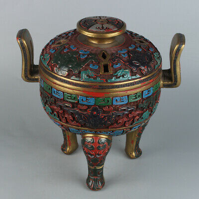 Chinese Exquisite Handmade lacquerware Incense Burner