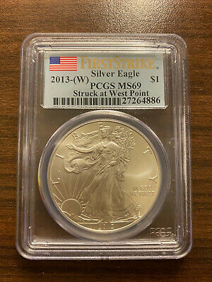 2013-(W) Struck at West Point American Silver Eagle ASE PCGS MS 69 First Strike
