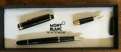 Montblanc Meisterstuck 14K 585 Fountain Pen With Spare Nib Plus Ink Cartridges