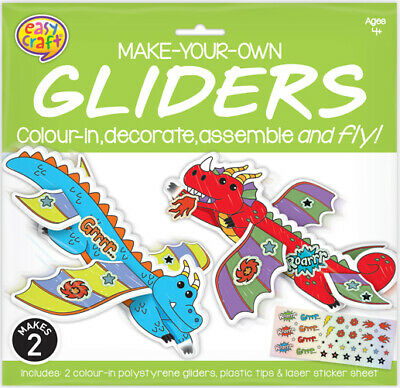 Glider Craft Kit (2 per pack) Dragons (Product Code: 160602)