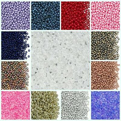 Lot of 2500pcs DIY 11/0 Rocaille 1.8mm Small Round Glass Seed Beads CHOOSE COLOR