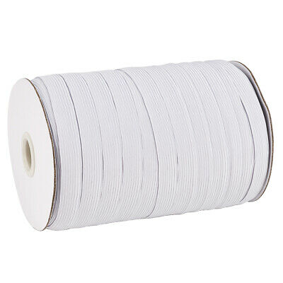 100~200Yards White 4~12mm Widths Braided Elastic Bands Cords Knit DIY