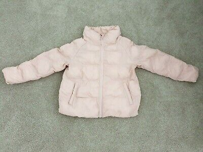 Uniqlo Girls Puffer Jacket (Size 7-8) - Pink
