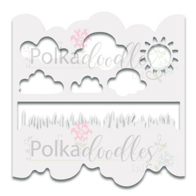 """Great Outdoors Polkadoodles Plastic Stencil 6"""" x 6"""""""