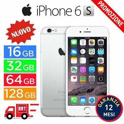 Nuovo Apple Iphone 6S 16Gb 32Gb 64Gb 128Gb Argento Silver It