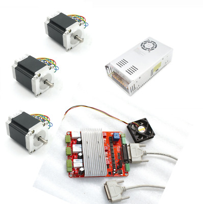 3Axis Nema23 Stepper Motor L76mm 3A+TB6560 Driver 4V board CNC Controller Kit DE