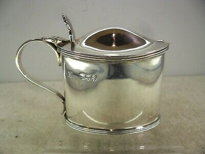 Large Solid Silver Mustard Pot, Edward Hutton, London 1893