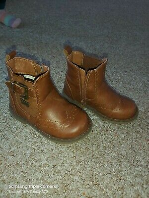 Toddler /infant Brown Girl Boots Size 6 From Matalan