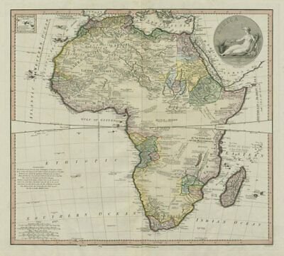 Africa by DELAROCHETTE / FADEN. Pre-colonial tribes & kingdoms 1803 old map