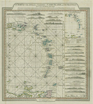 The Antilles or Charibbee or Caribs Islands… DELAROCHETTE / FADEN 1784 old map
