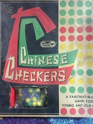 OLD AND RARE - Cardinal Games Wood CHINESE CHECKERS Board Game in Original Box!