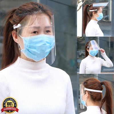 Full Face Cover Dust-proof Safety Shield Tool Mask Clear Glasses Eye Protect