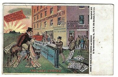 1912 Commie Socialist Cleveland Oh International Pub Co Cartoon Cause Postcard