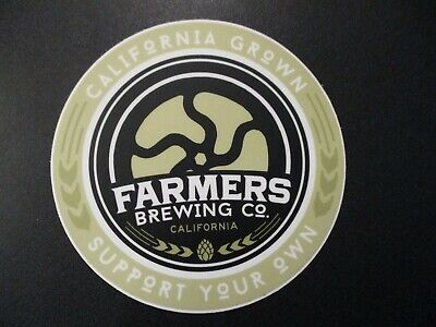 FARMERS BREWING CO Princeton California STICKER decal craft beer brewery