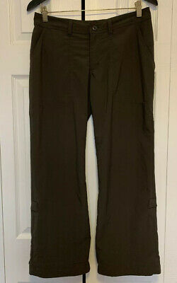 Womens Patagonia Green Hiking Roll Up Pants Cropped Size 6