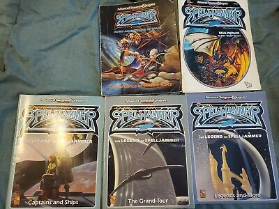AD&D Advanced Dungeons & Dragons 2nd Ed - Spelljammer 5 RPG Book Lot