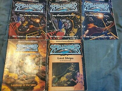 AD&D Advanced Dungeons & Dragons 2nd Ed -Spelljammer - 5 RPG Book Lot Captain's