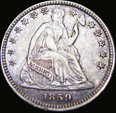 1859 Seated Liberty Half Dime Silver Type Coin ---- STUNNING ---- #X836