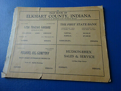 1930's Hixson Plat Book, Elkhart County, Indiana, Land Ownership