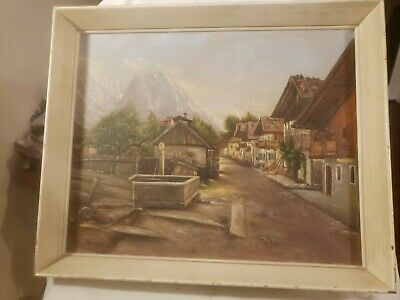 Beautiful Early Fritz Hausler (German 20th Century) 1950's 1960's Oil Painting