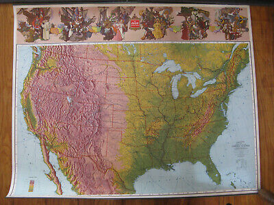 "NOS 1940 Coca-Cola US map 36"" x 29"" made by The Ohman Co. - NICE!"