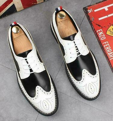 Brogue Mens Wing Tip Dress Formal Oxfords Business Wedding Leather Shoes 2020