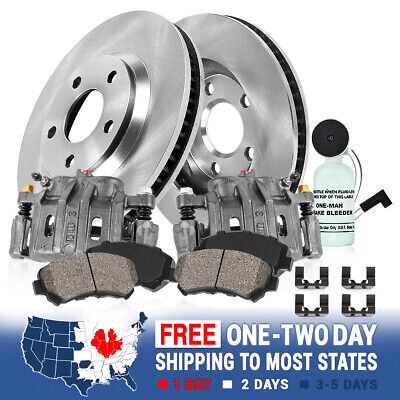2015 For Acura RDX Front Cross Drilled Slotted and Anti Rust Coated Disc Brake Rotors and Ceramic Brake Pads