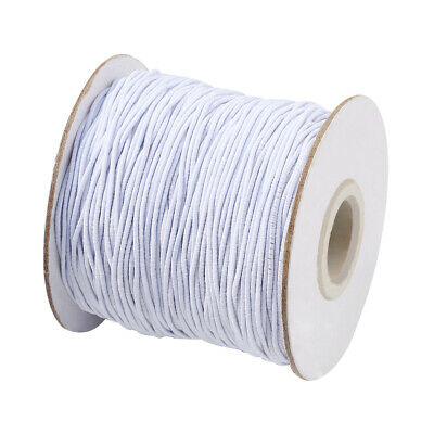 100Metres WHITE& BLACK Round Elastic Cord 1mm Widths Stretchy Cords