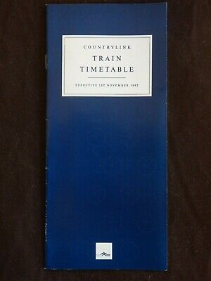 CountryLink NSW Country Timetable November 1992