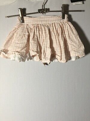 Seed Heritage Baby Girls Striped Skirt Size 2 Cotton Good Condition