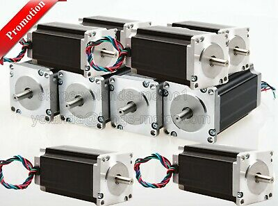Promotion! 10PC Nema23 Stepper Motor 435oz-in 4.2A 8mm 57BYGH CNC