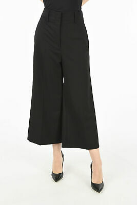 JIL SANDER women Trousers Black Pants Size 38 IT Wide Leg Palazzo Valente Bla...